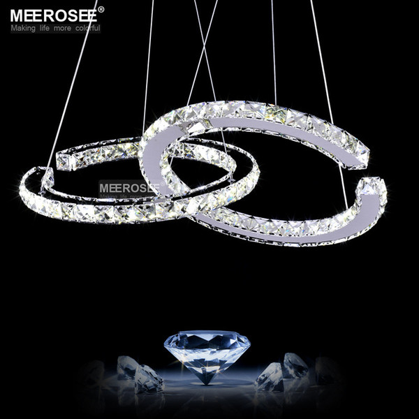 Modern LED Diamond Pendant Light Fixture LED Crystal Lighting Lustres Hanging Drop abajur Lamp For Dining Room
