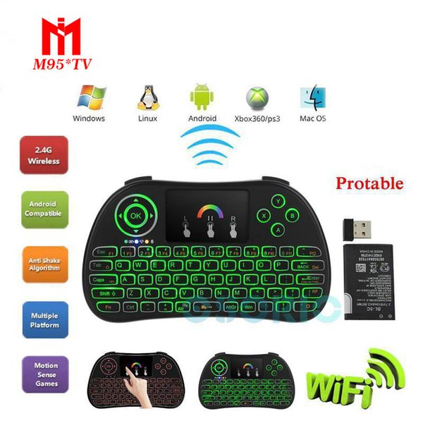 Colorful Backlit P9 Wireless Keyboard Fly Mouse Multi-Media Player Remote Control Touchpad for Android Smart TV Box MXIII M8 MXQ MX3 Mini PC