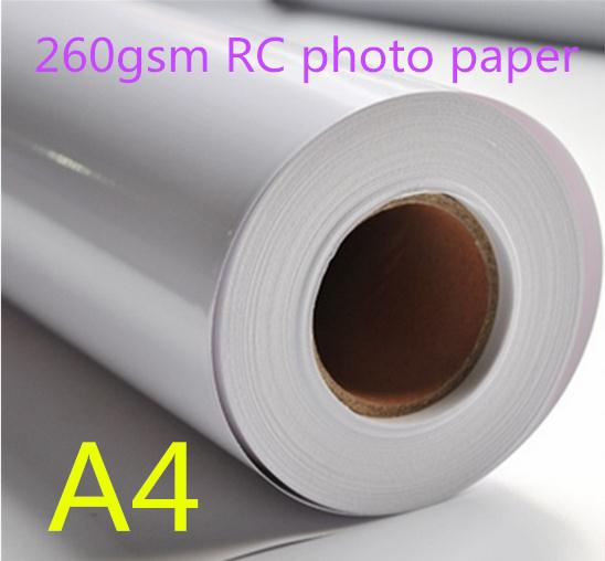 260gsm Glossy Waterproof RC photo paper roll for wholesale 30m per roll