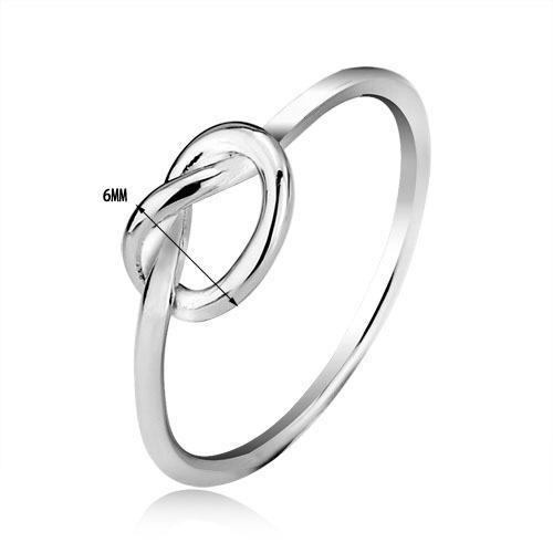 Moda Design Simples das Mulheres 18 k Branco Banhado A Ouro Genuíno 925 sterling silver Ring Token de Amor Presente de Aniversário
