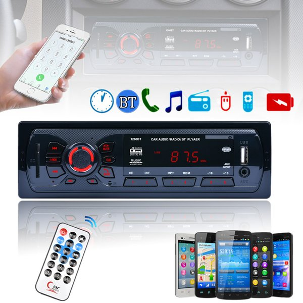 best selling Bluetooth Car Stereo FM Radio MP3 Audio Player Aux Input Receiver SD USB MP3 Radio In-Dash Support Hands-free Calls CAU_016