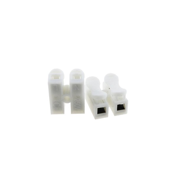 2pin 3pin Spring Cable Clip self lock press push quick White 2P 3P Wire clip connector Terminal for car led strip lamp