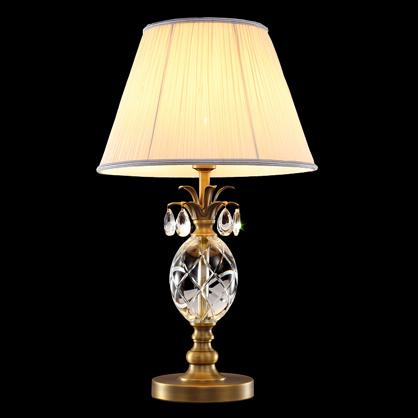 Copper desks lamp European American simple luxury crystal table lamps desk lighting living room bedroom bedside wedding viall led table lamp