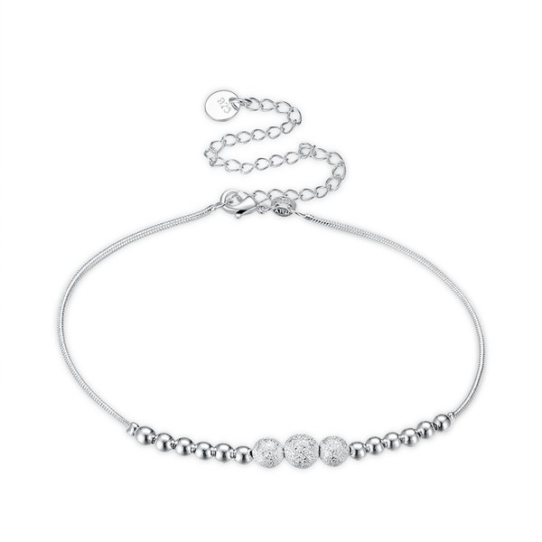 Women Beautiful Anklet Beach Accessories Summer Jewelry Cute Foot Bracelet Chain Anklet Crystal Jewelry Frosted beads Charms Girl Fashion