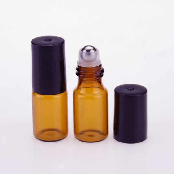 Wholesale USA UK AU Mini 3ml Glass Roll On Bottles Essential Oil Empty Aromatherapy Perfume Bottle With Metal /Glass Roller Ball For Sale