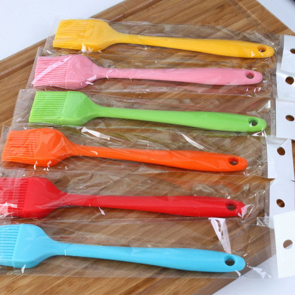 Oil Brushes Tool Heat Resisting Silicone Basting Oil Brush Barbecue Cooking BBQ Tools Cooking Pastry Oil Brushes