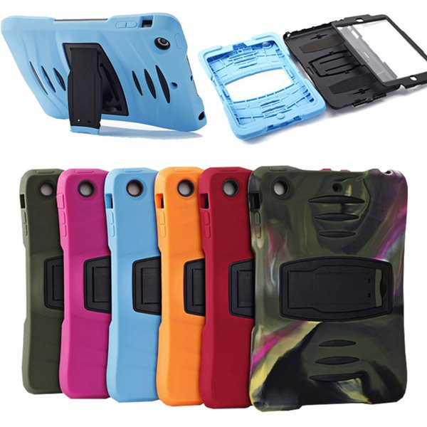 Per iPad Mini Case Rugged Protector Hybrid 3 in 1 Antiurto Caso Kickstand per iPad Mini 1/2/3/4 DHL PCC052