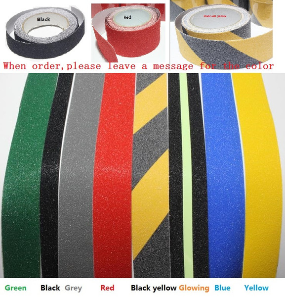 best selling 2.5cm*5M PVC Hotel Stairs Floor Bathroom Arenaceous Warning Safety Self-adhesive Rough Tape