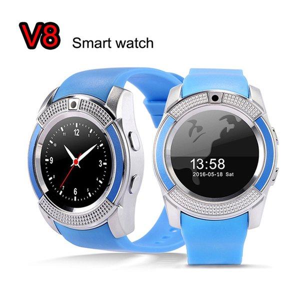 V8 Smart Watch Health Clock Fitness Bracelet Pedometer SIM GSM Bluetooth Card Smart Watch for iOS Android PK Q18 GV18 U8