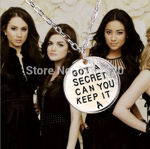 Hot Movie New Wholesale 20pcs/lot Pretty Little Liars Got A Secret Can You Keep It Necklace Pendant Necklace For Girls Charms