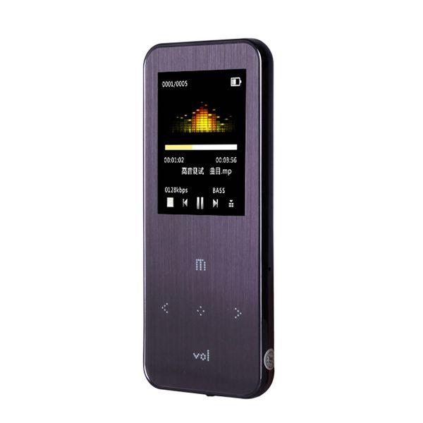 Wholesale- 2015 new hot original 4GB 1.8 inch ONN Q9 purple metal mini sport with fm radio music mp3 player support 1-32GB micro TF/SD card