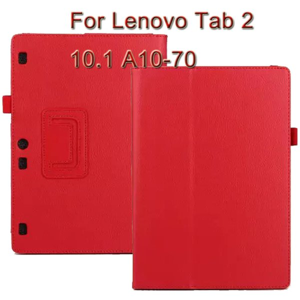 Wholesale-3 in 1, Custodia in pelle per tablet Lenovo Stand per Lenovo Tab 2 10.1 A10-70 A10 70 + Proteggi schermo + Stilo e