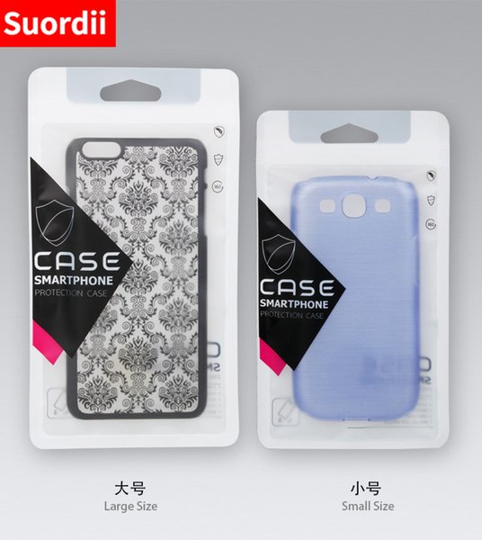 Cellphone Case Retail Packing Bags Half Transparent Plastic OPP Package Bag for Samsung S8 S8 Plus S7 S7 edge Universal Mobile Phone Case