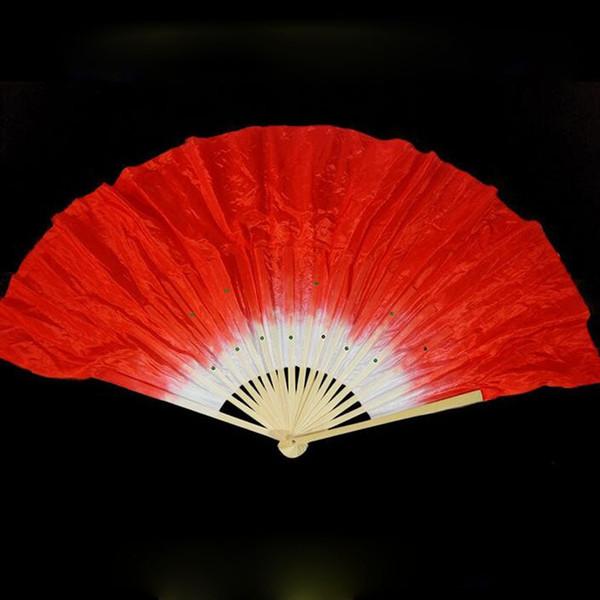 Velo di seta cinese di bambù 18 costole fan veli corti bel ventre danza del ventre palco danza puntelli regalo 5 colori ZA1656