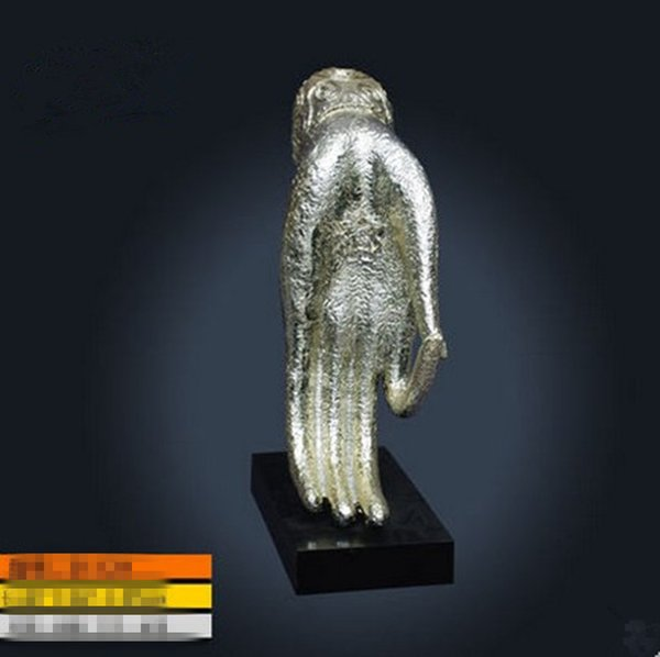 Cina granito top intaglio Buddha mano scultura in resina decorazione OK gesto dito decorazione scultura desktop