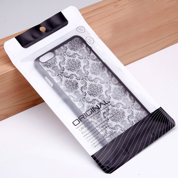 Clear Soft Plastic PVC Ziplock Phone Case Package Bag Cell Phone Case Retail Package Pouch for Apple iphone Samsung Mobile Phone Case