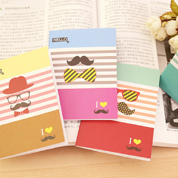 novelty korean stationery cute cartoons student notebooks paper diary book notepad memo pads random color free shipping