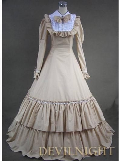 Acheter Vendre LolitamallDHgate Mode Du Et Com Longue De Victorienne Marron 4 De80 À Élégance Belle Robe ybYgf76