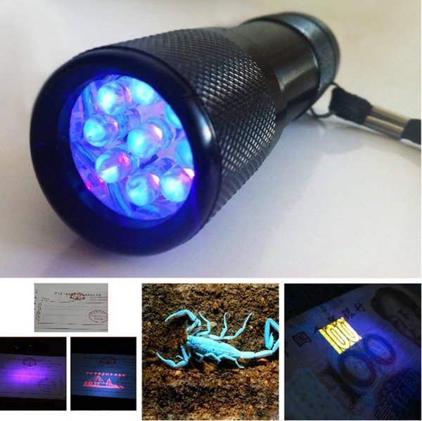 9 LED mini torch UV Light 395-400nm LED Flashlight /AAA battery small torch/not rechargeable torch ZJ0076