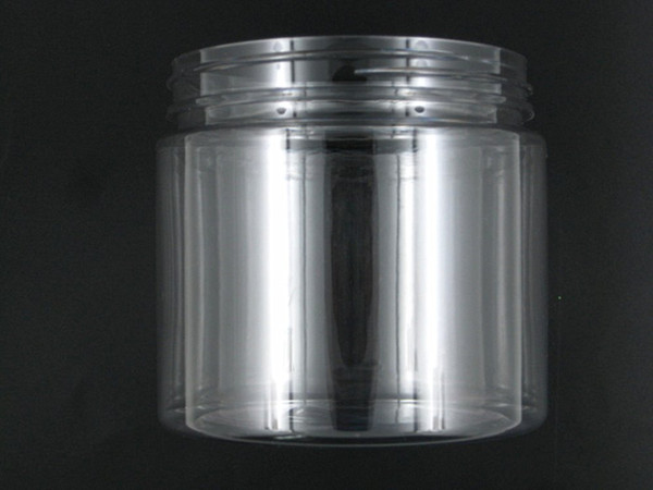 Wholesale- 10pcs / lot 200ml rotonda chiaro pet contenitore bottiglia di acqua con coperchio in plastica bianca, per imballaggio,