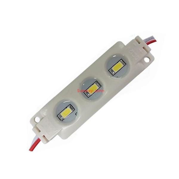12 V SMD 5730 LED Modülleri 3LED 1.5 W IP67 su geçirmez Enjeksiyon Modülü ışık kanal harfler için Işaretleri Kırmızı Yeşil Mavi sıcak soğuk beyaz