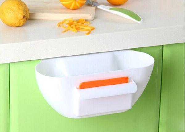 1 UNID cocina creativa caja de almacenamiento de basura contenedores de basura de cocina cubo de almacenamiento de plástico 29.5x11.5x10cm O0092