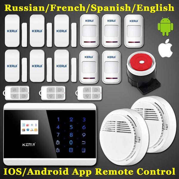 LS111- IOS Android APP Control Arm! 99 Teclado inalámbrico táctil LCD TFT pantalla GSM PSTN SMS Seguridad para el hogar Voice Burglar Fire Alarm Sensor