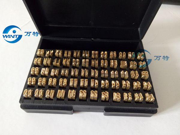 2 * 3 * 15mm Hot stamping lettere nastro termico stampa alfabeto font per stampante data codice di scadenza macchina codifica