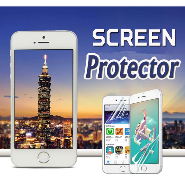 Transparent LCD Screen Protector Film Guard With Cleaning Cloth Film For iPhone XS Max XR X 8 7 6 Plus 5 Samsung Note 9 S9 S8 Xiaomi Huawei