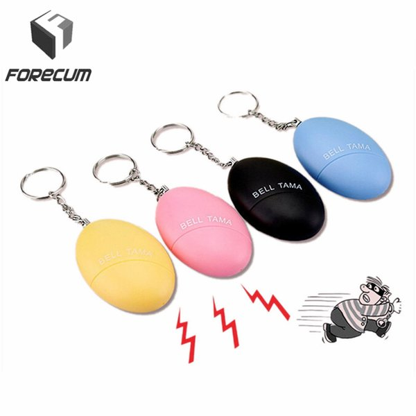 Wholesale- FORECUM Egg Shape Personal Keychain Anti-Lost Alarm Anti-Attack Anti-Rape Outdoor Security Protection Alert Safety Scream Loud