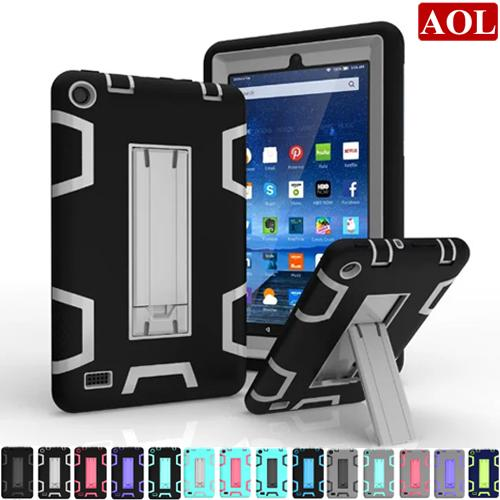 For Kindle Fire HD 7 2015 2017 HD8 2016 Kids Baby Safe Armor Shockproof Heavy Duty Silicone Hard Case Cover Fundas