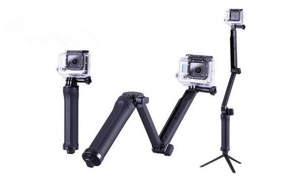 Zubehör Faltbares 3-Wege-Einbeinstativ Selfie-Stockbefestigung Kameragriff Auslegerarm Stativ für Gopro Hero 7 6 5 4 3 2 Xiaomi Yi SJCAM