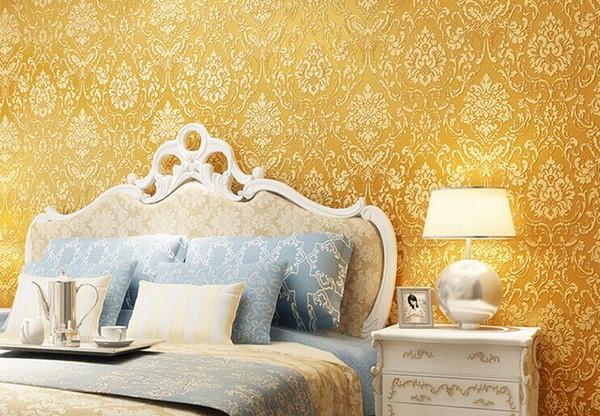 Grosshandel Gold Beige Cremeweiss Moderne Non Woven Metallic Damast Tapetenrolle Tapeten Tapeten Wallcoverings W123 Von Xyls312 67 02 Auf