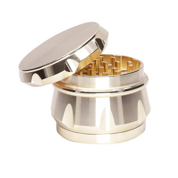 Forma de diamante Herb Grinder 4 piezas fumar aleación de zinc Metal manual Herb Grinder Grinding Tobacco Grinder 5963