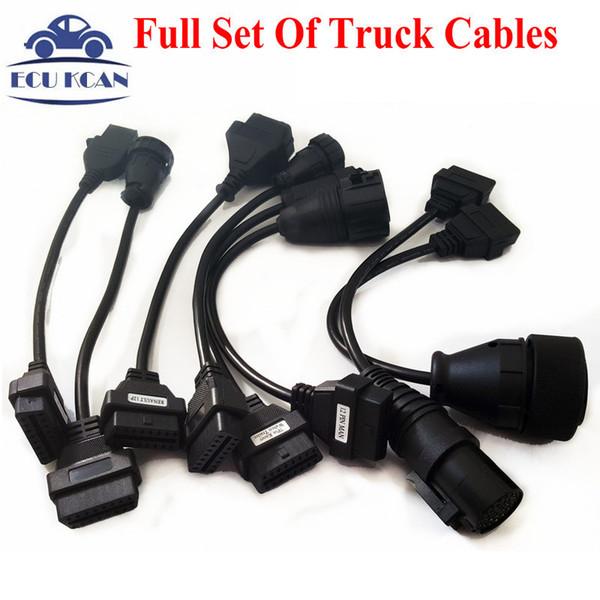 Toptan-Tcs CDP PRO CDP Tarayıcı Için En Iyi Kalite Tam Set Kamyon Kabloları OBD2 Teşhis Kablolar Kamyon Kabloları Ücretsiz Kargo