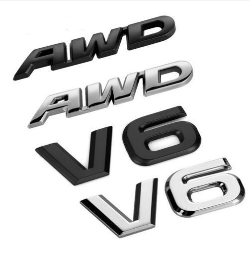 Estilo do carro 3D Adesivo de Metal AWD Emblema Emblema Logotipo Cauda Fender Decalque Acessórios para Toyota Impreza Subaru Honda 4X4 Off Road