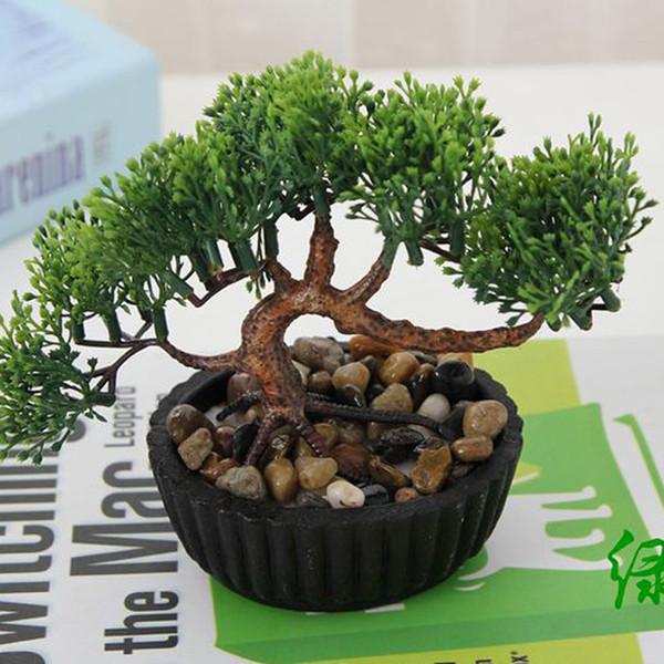 Gros-1 Pcs Plantes d'intérieur simulation simulation petits bonsaïs fleurs artificielles en pot bonsaï ensemble en gros décoration de la maison