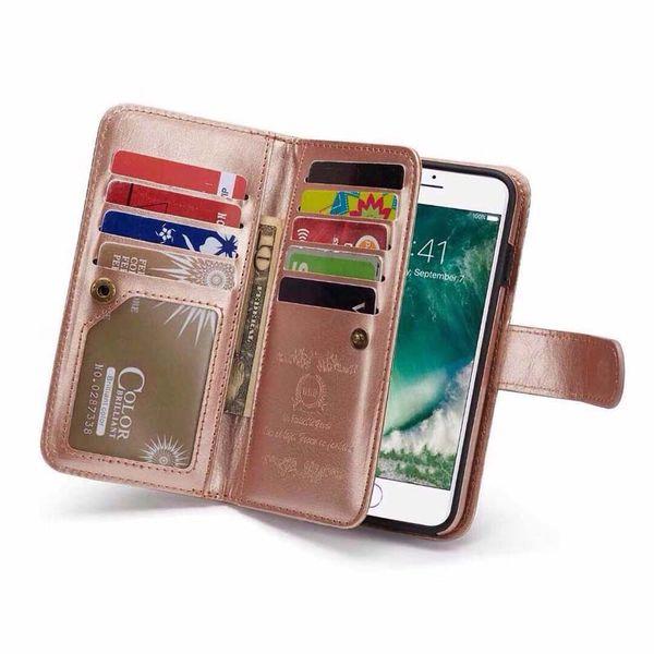 Cartera de cuero Folio teléfono Case Book Design con soporte y tarjetas de identificación Slots Cierre magnético TPU Interior Case para iPhone X (5.8 pulgadas)