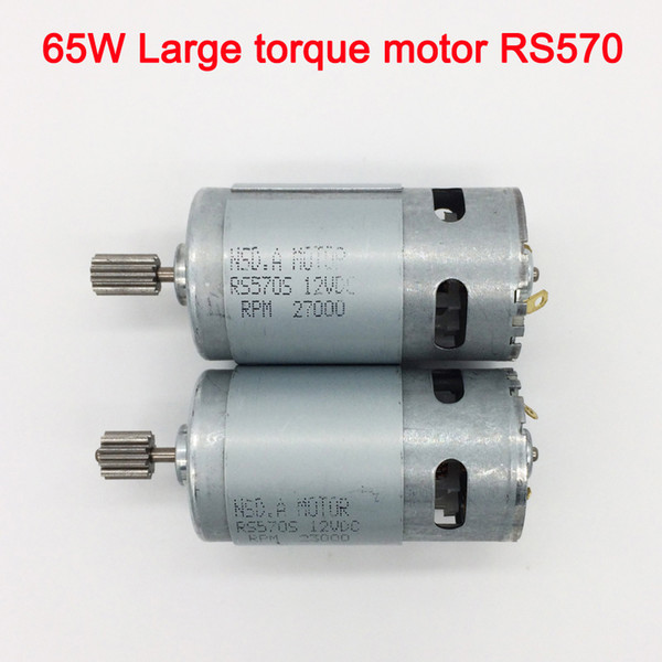 best selling 65W high torque 12v dc motor for children electric car,Faster and torque greater 570 motor,electric motorcycle high power engine