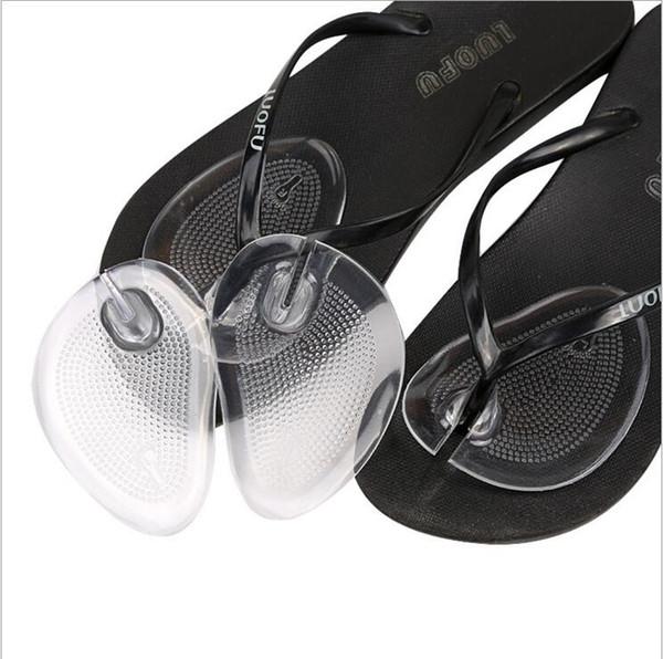 2017 Yeni yaz kaymaz Şeffaf Silikon Ön Ayak ayakkabı pedleri Ayak Bakımı Aracı Yastık Çevirme Sandalet Yüksek Topuk Pedi
