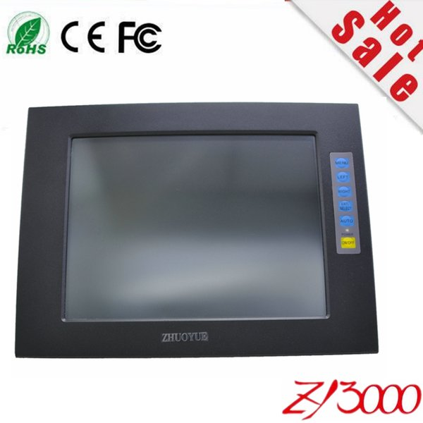 top popular factory wholesale 10.4 inch 4:3 1024*768 aluminum alloy case touch screen open frame industrial monitor have waterproof dust 2019