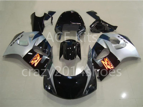 Free Gifts New motor Fairing Kit Fit For SUZUKI SRAD GSXR750 GSXR600 96-00 1996 1997 1998 1999 2000 R600 R750 bodywork silver black No.11