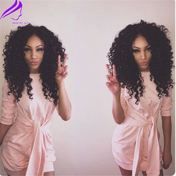 Synhetic Afro Kinky Curly Wigs For African American Black Women Curl , Synthetic Lace Front Wigs Cheap Cosplay Wigs