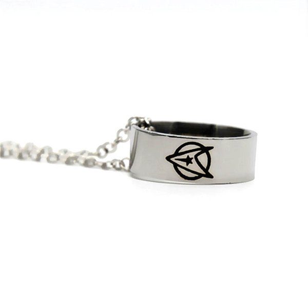 Star trek necklace Starfleet Insignia logo Stainless steel necklace party necklace