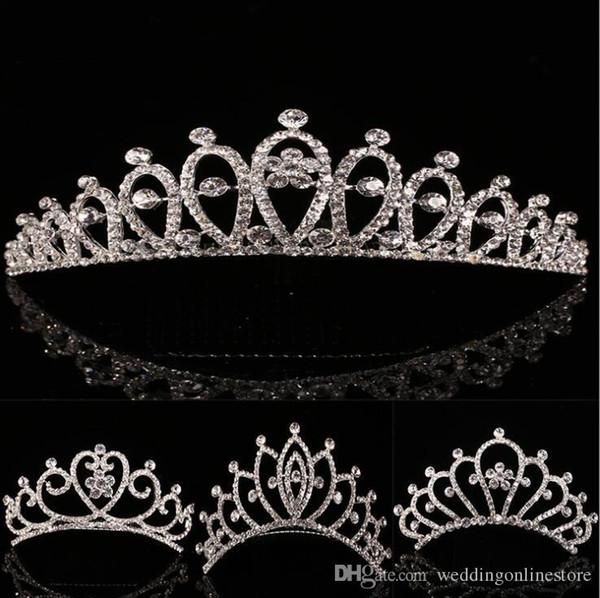 best selling Luxury Rhinestone Bridal Wedding hair Crown Headpieces Crystal Hair Tiaras hairpins Hairband for Women party Hair Accessories