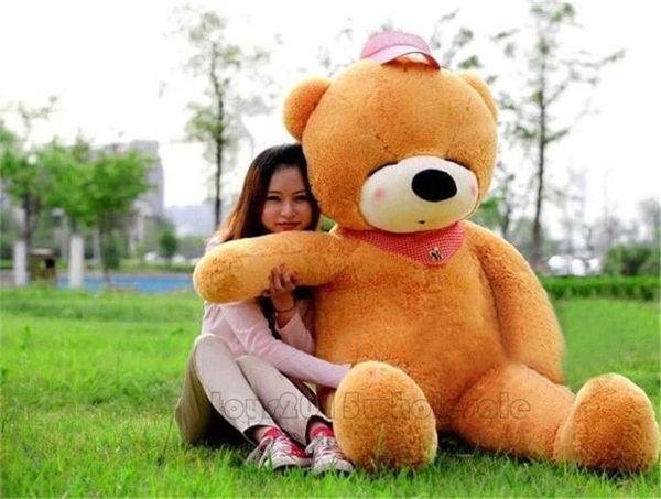 "78"" HOT GIANT BIG PLUSH SLEEPY ""brown""TEDDY BEAR HUGE SOFT gift for girlfriend"