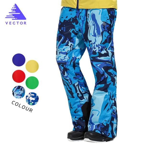 Wholesale- VECTOR Professional Winter Ski Pants Men Warm Windproof Waterproof Snow Skiing Snowboard Pants Outdoor Winter Trousers HXF70016