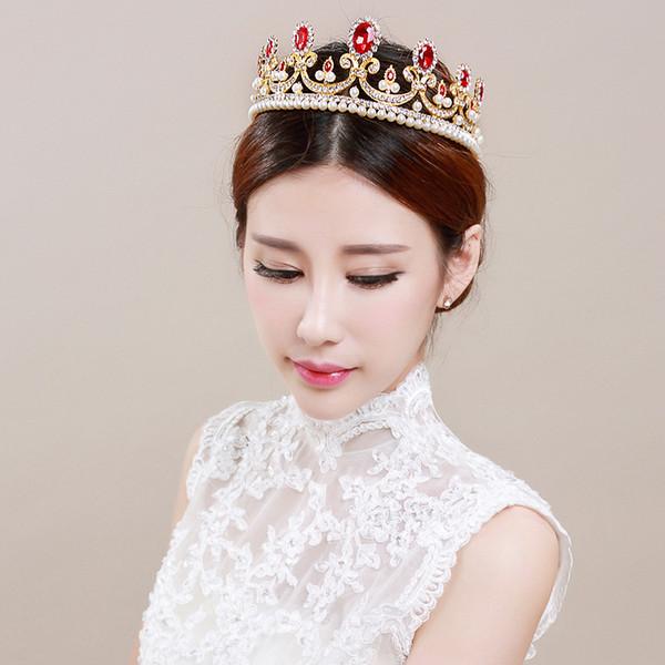 European Design Hair Jewelry Vintage Peacock Crystal Tiara Wedding Crown Accessori per capelli da sposa Strass Pageant Headband Headpiece 2017