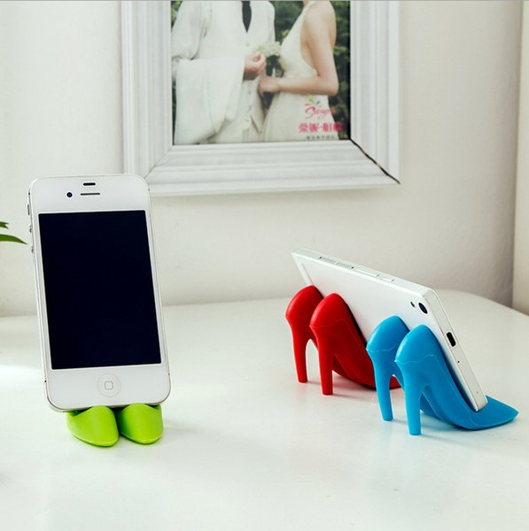 top popular T creative high heels mobile phone stent lazy bedside watching TV mobile phone fixed frame creative silicone 2019