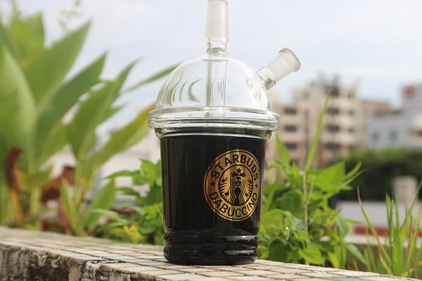 2017 Grace Glass Percolators Glass Bong Sandblasted Starbuck Cup Dab Bongs With Detachable Mouthpiece 14mm Bowl Glass Water Pipe Diffusion
